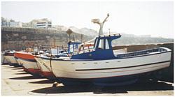 Vissersboten in Eiricera- Portugal