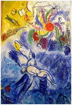 Marc Chagall: zesde dag, de schepping van de mens