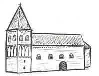 kerk met Romaanse toren na 1350